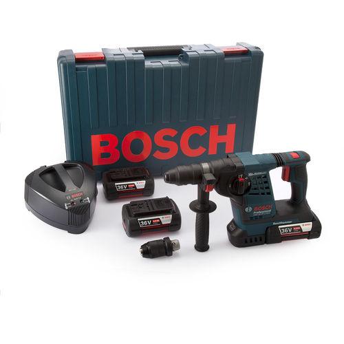 Bosch GBH36VFLIP3 SDS-Plus Hammer Kit (3 x 4.0Ah Batteries)