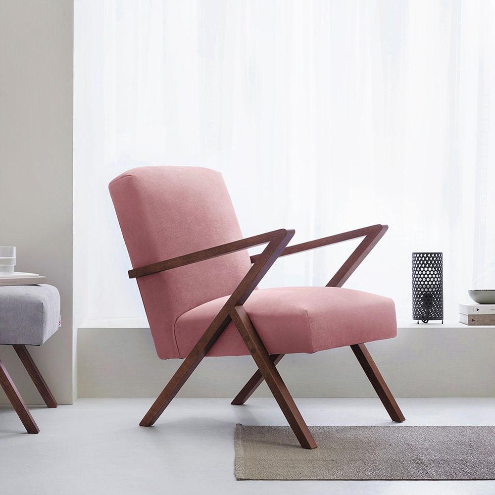 Rosa Retrostar Chair Velvet Line   Bombinate