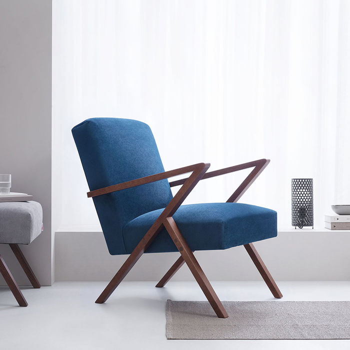 Royal Blue Retrostar Chair Velvet Line | Bombinate