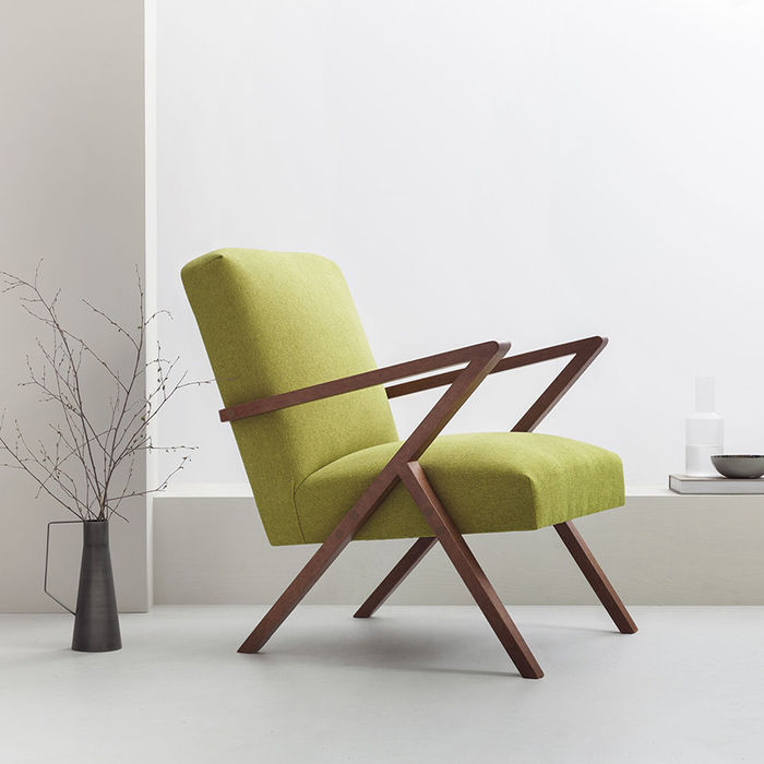 Mustard-Green Retrostar Chair Classic Line | Bombinate