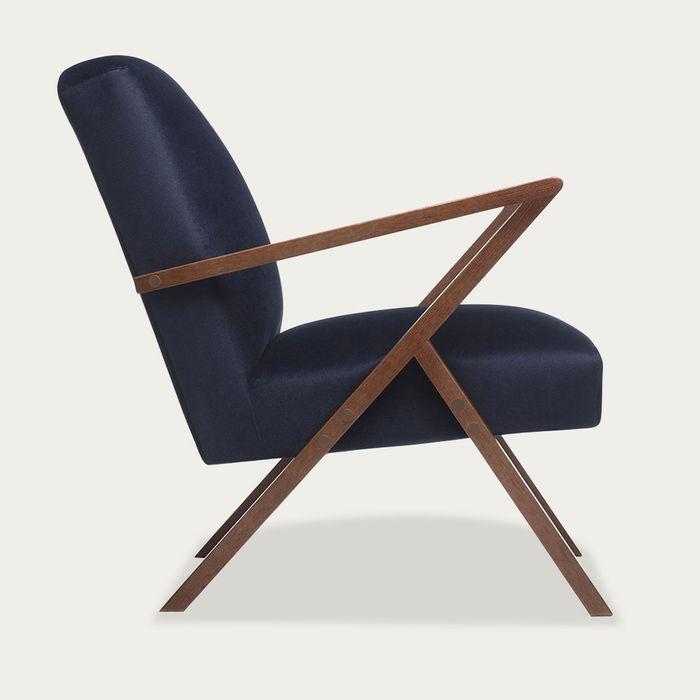 Navy Blue Retrostar Chair Velvet Line | Bombinate
