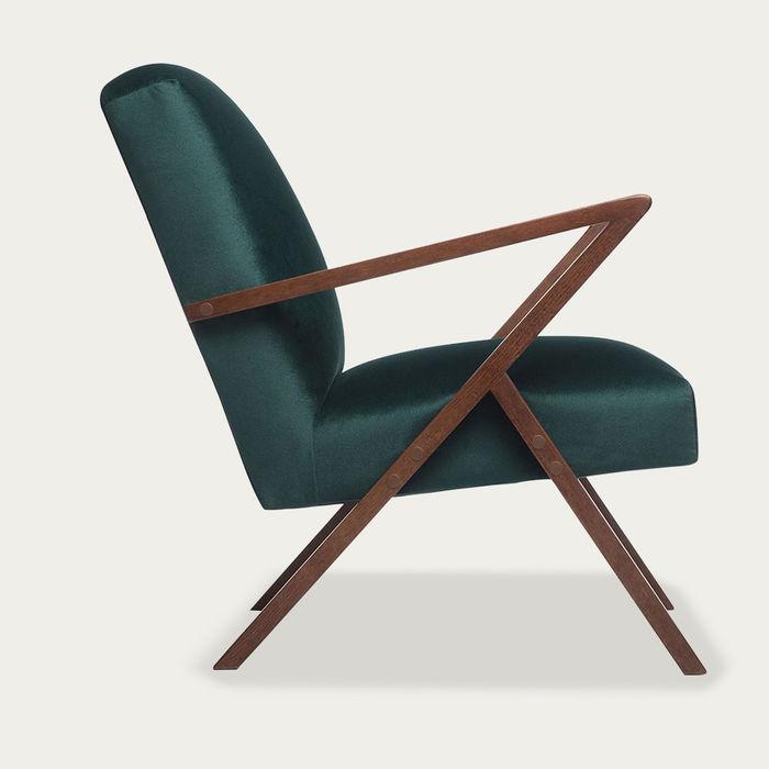 Hunter Green Retrostar Chair Velvet Line | Bombinate