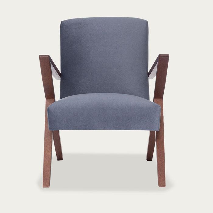 Grey Retrostar Chair Velvet Line | Bombinate