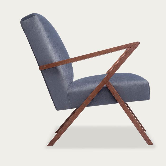 Grey Retrostar Chair Velvet Line   Bombinate