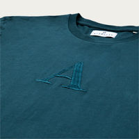 "Stone Blue ""A"" Long Sleeve T-Shirt 