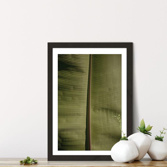 Tropical Banana Art Print Black Frame | Bombinate