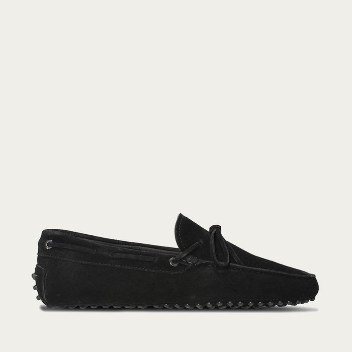 Black Suede Driving Shoes | Bombinate