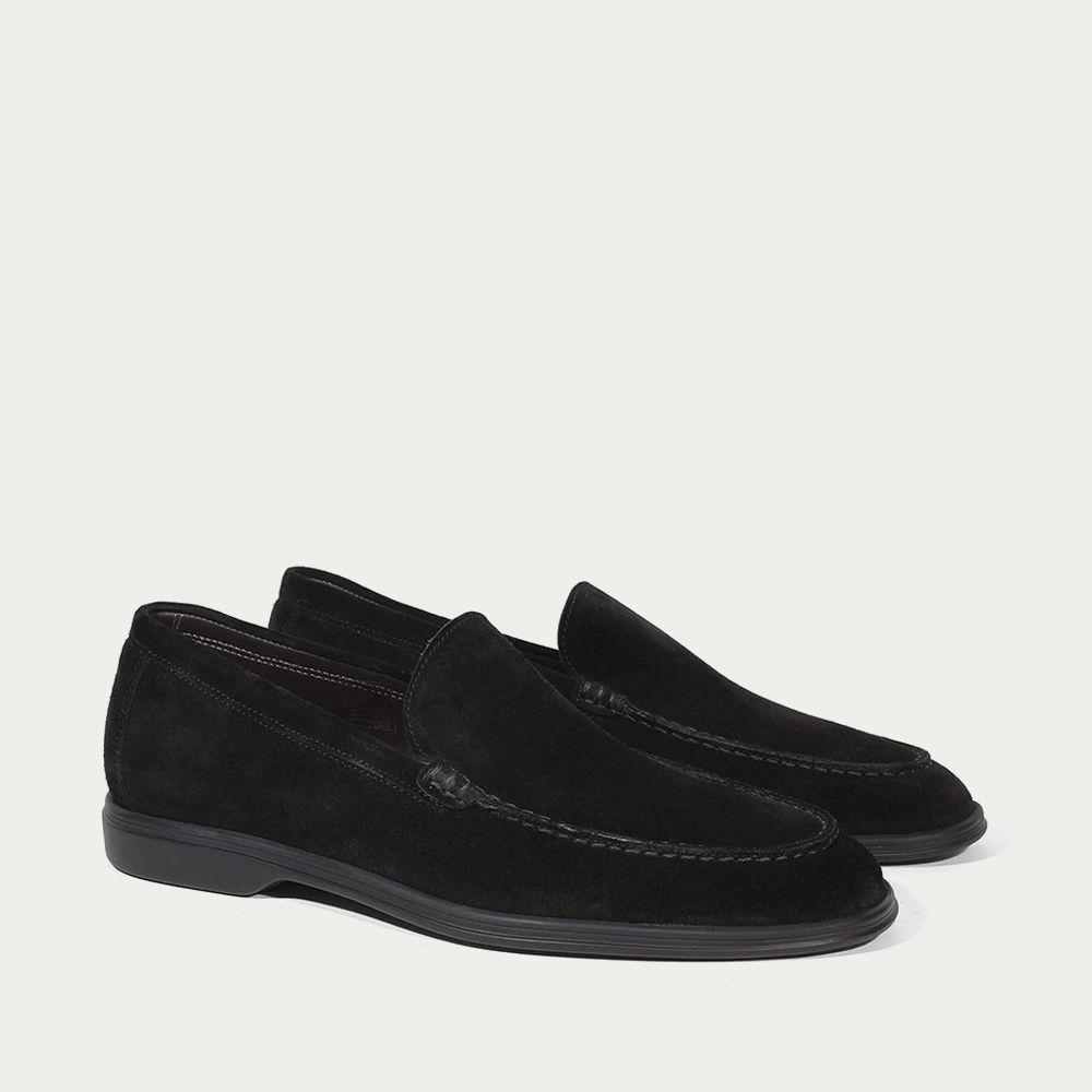 Black Suede Yacht Loafer | Bombinate