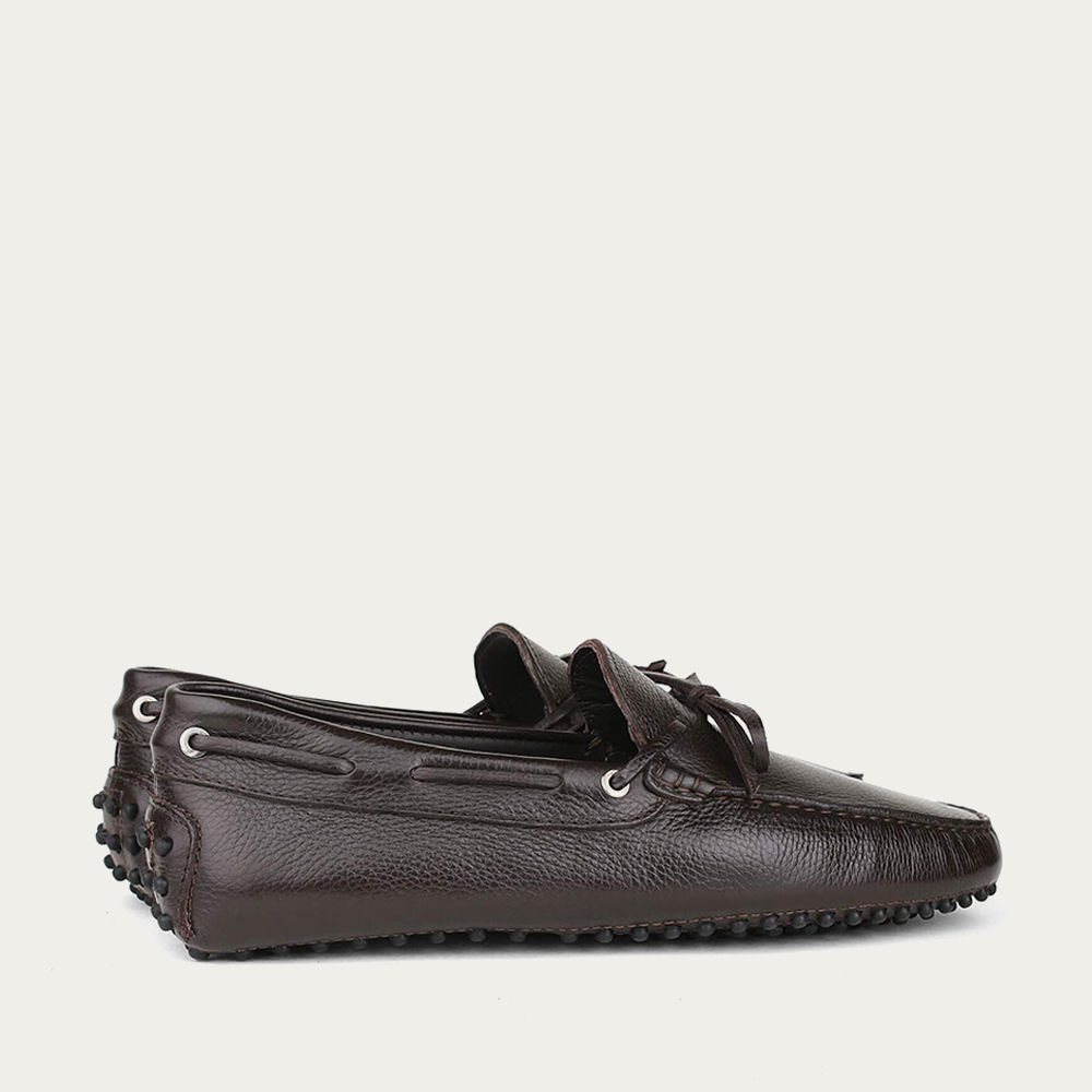 Brown Leather Driving Shoes | Bombinate