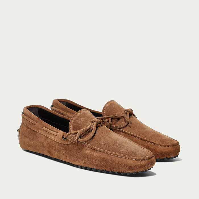 Caramel Suede Driving Shoes   Bombinate