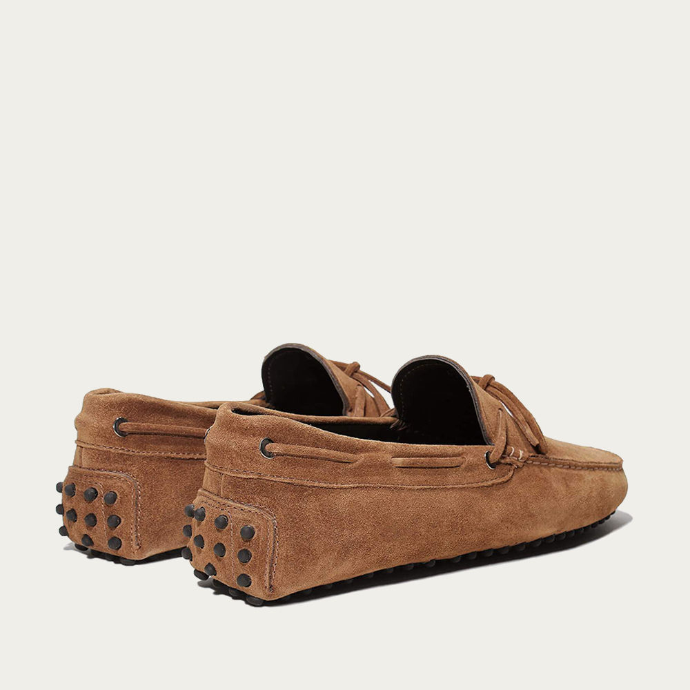 Caramel Suede Driving Shoes | Bombinate