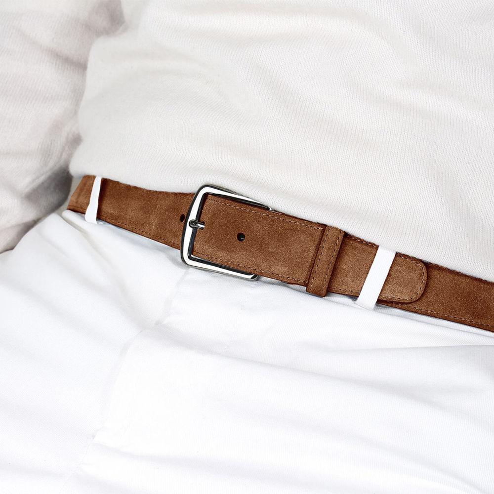 Caramel Suede Leather Belt | Bombinate