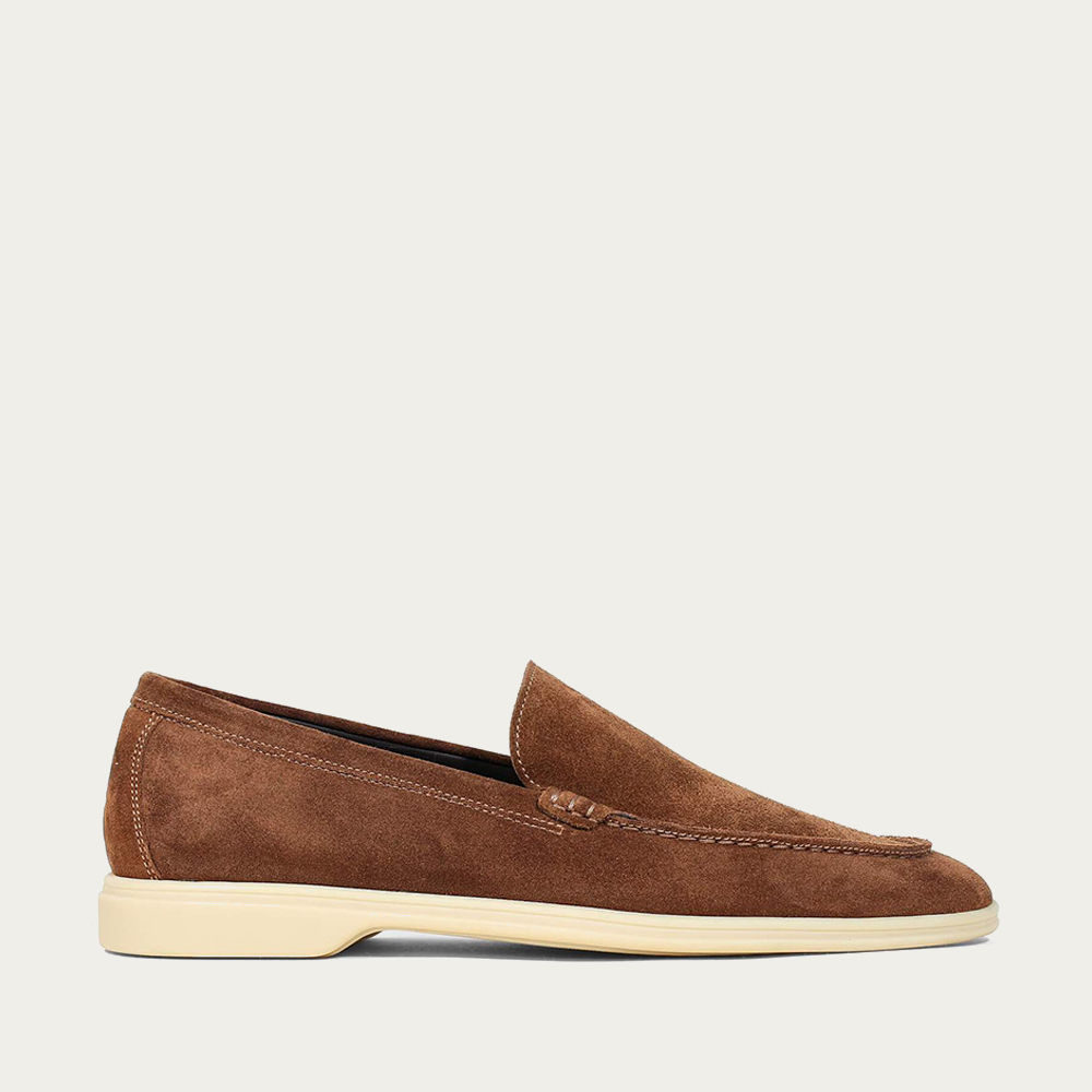 Caramel Suede Yacht Loafer   Bombinate