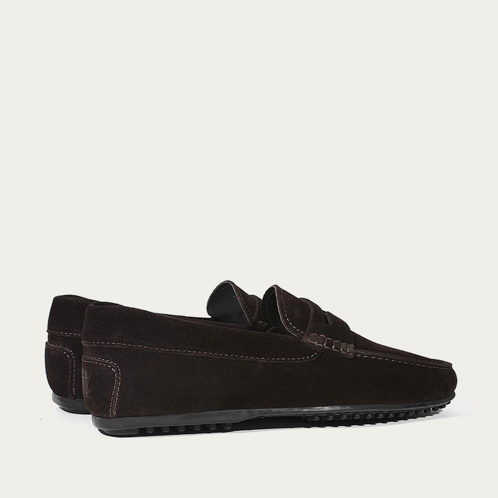 Chocolate Suede City Driving Shoes | Bombinate