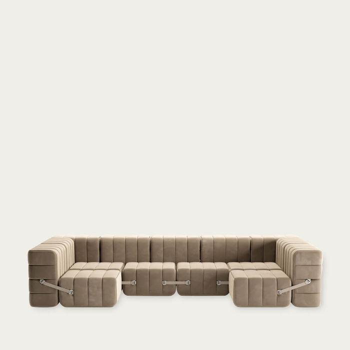 Brown Curt Sofa System 15 Modules - Barcelona   Bombinate