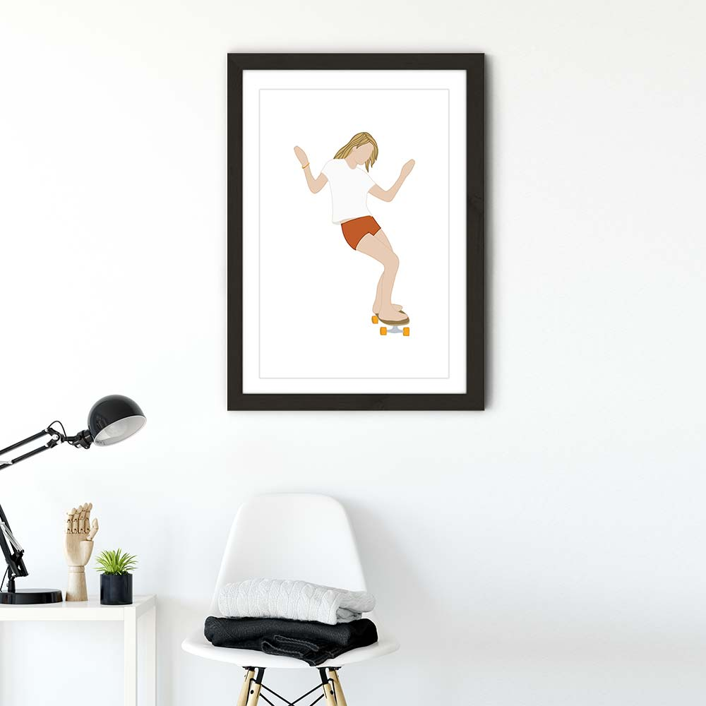 Goodtimes Art Print Black Frame | Bombinate