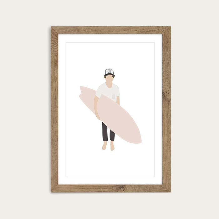 Grom Art Print Oak Frame | Bombinate