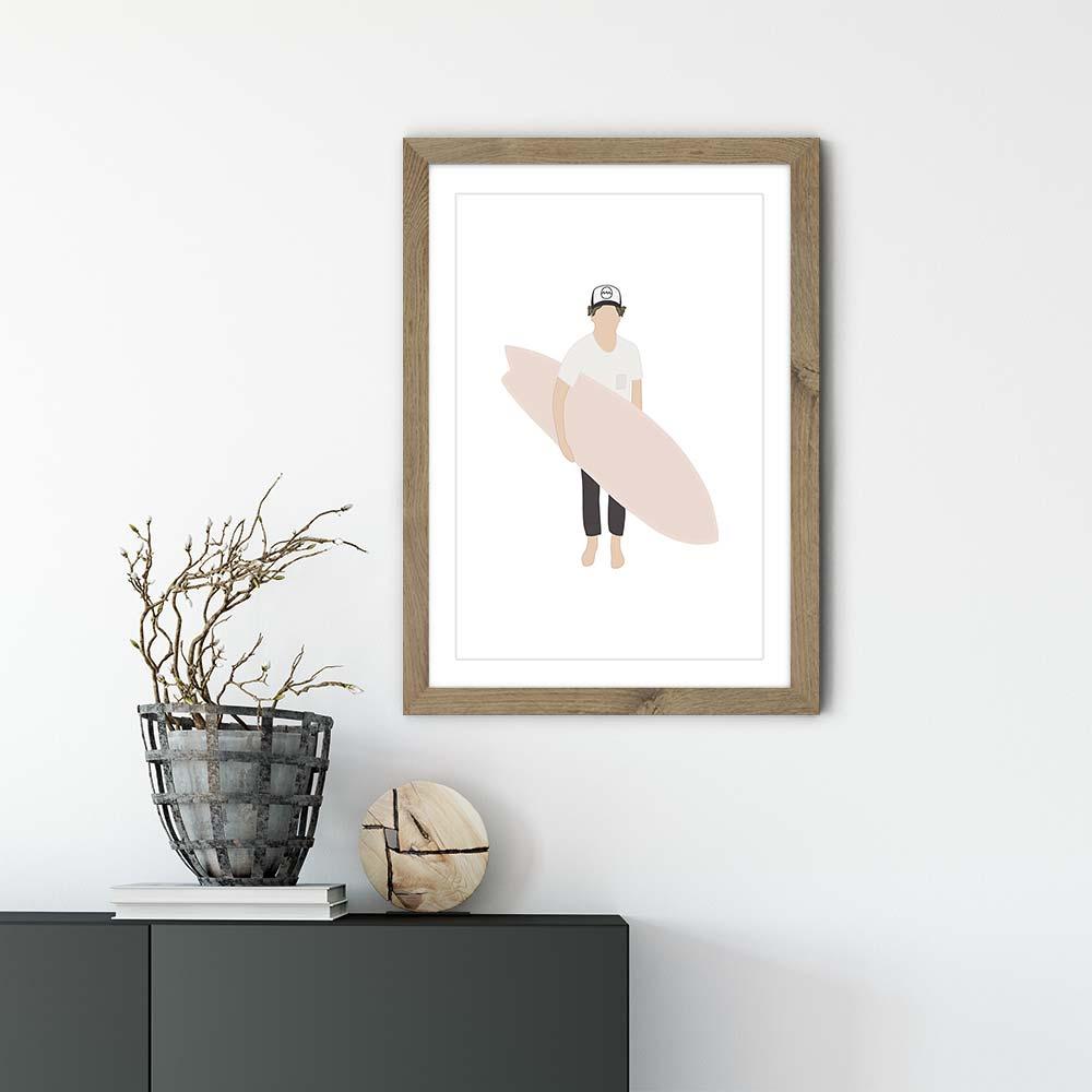 Grom Art Print Oak Frame | Bombinate