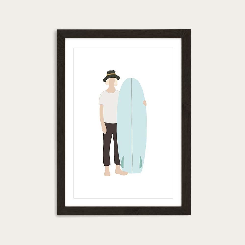Wonderer Art Print Black Frame | Bombinate