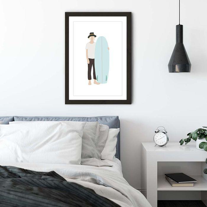 Wonderer Art Print Black Frame   Bombinate