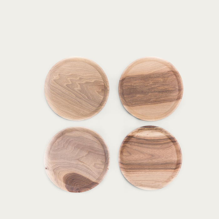 Cold Walnut + Limestone High Oste Serving Pieces Circle | Bombinate