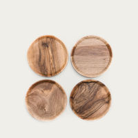 Warm Walnut + Granite High Oste Serving Pieces Circle | Bombinate