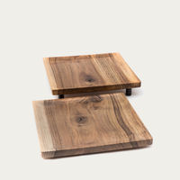 Warm Walnut + Granite Low Oste Serving Pieces Square | Bombinate