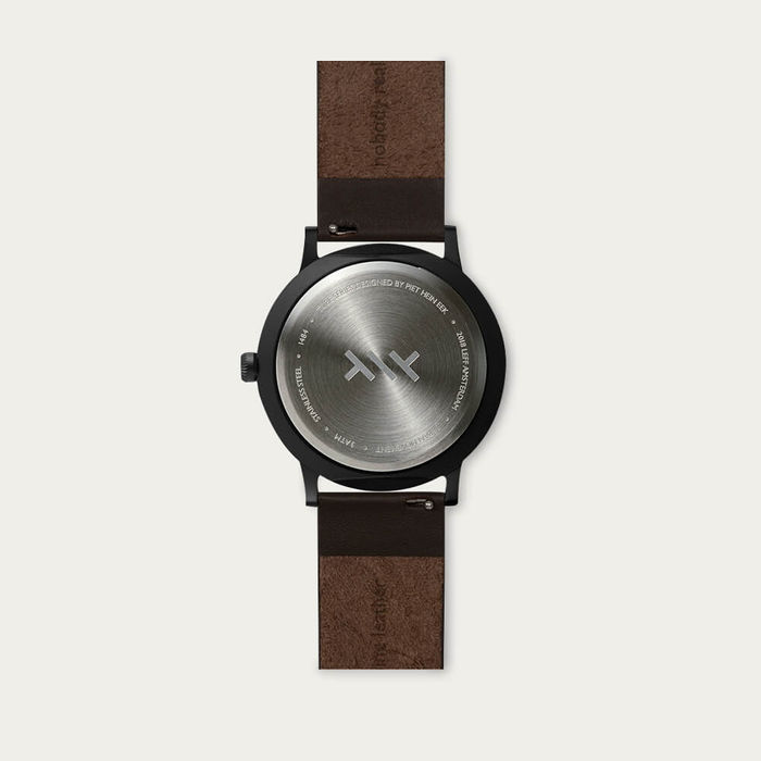 Black / Brown Leather Strap Tube Watch T Series | Bombinate