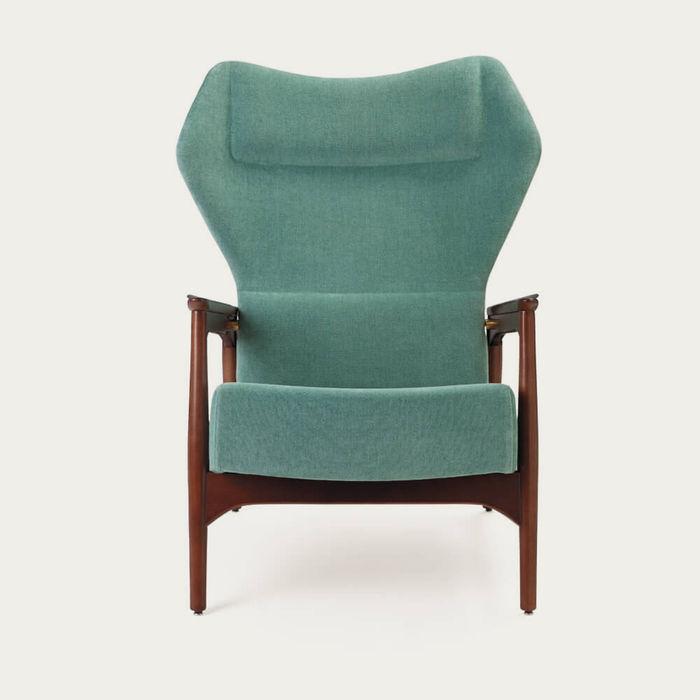 Light Blue/Ash Wood Capri Lounge Chair | Bombinate