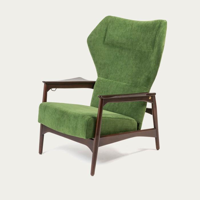 Green/Ash Wood Capri Lounge Chair | Bombinate