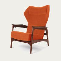 Orange/Ash Wood Capri Lounge Chair | Bombinate