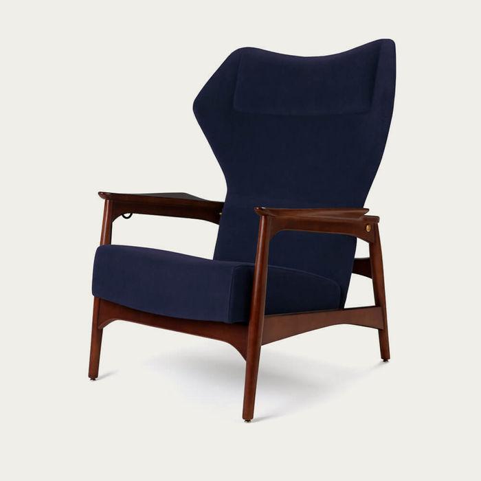 Navy/Ash Wood Capri Lounge Chair | Bombinate