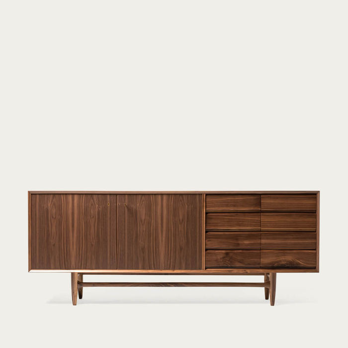 Walnut Wood Caravela Sideboard 2.1   Bombinate