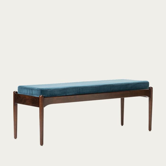 Blue/Ash Wood Museu Bench | Bombinate