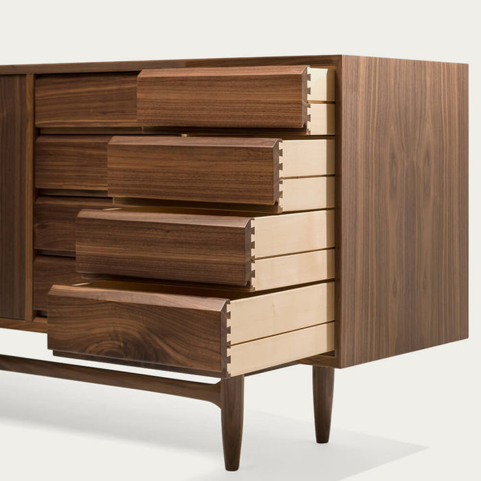 Walnut Wood Caravela Sideboard 2.1 | Bombinate