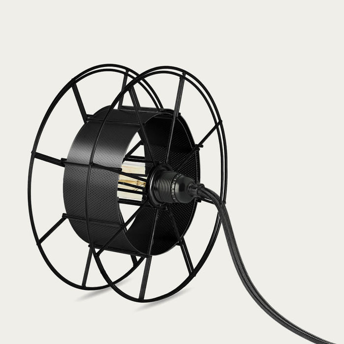 Black Floor Lamp Spool Black | Bombinate