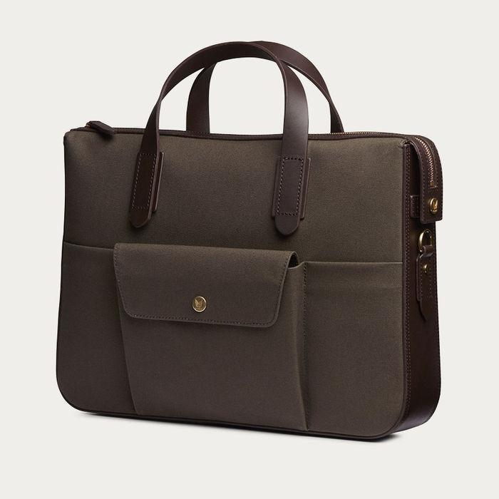 Army/Dark Brown M/S Briefcase  | Bombinate