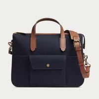 Midnight Blue/Cuoio M/S Briefcase  | Bombinate