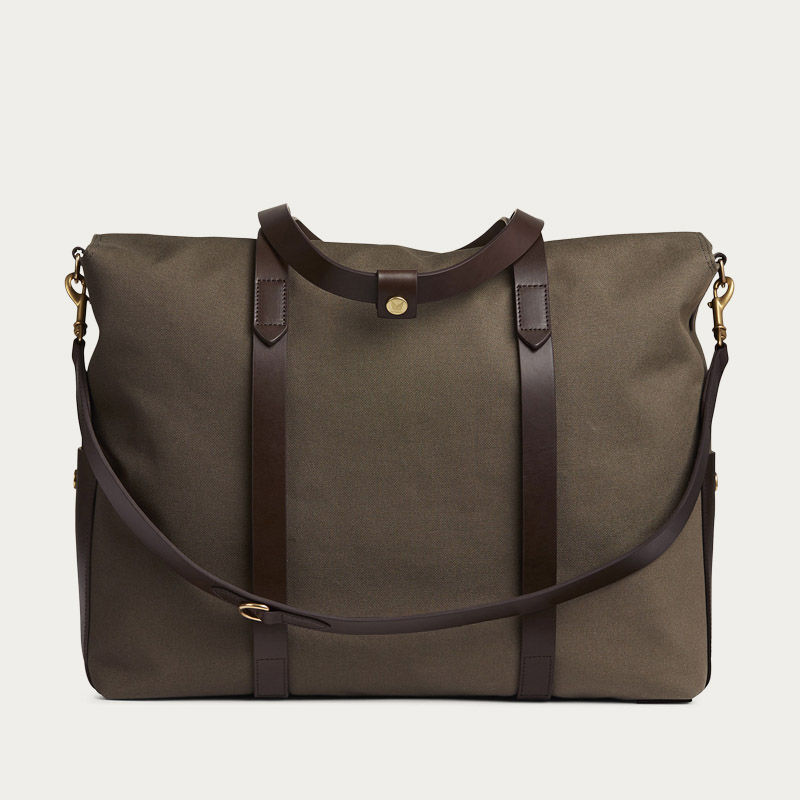 Army/Dark Brown M/S Mega Tote | Bombinate