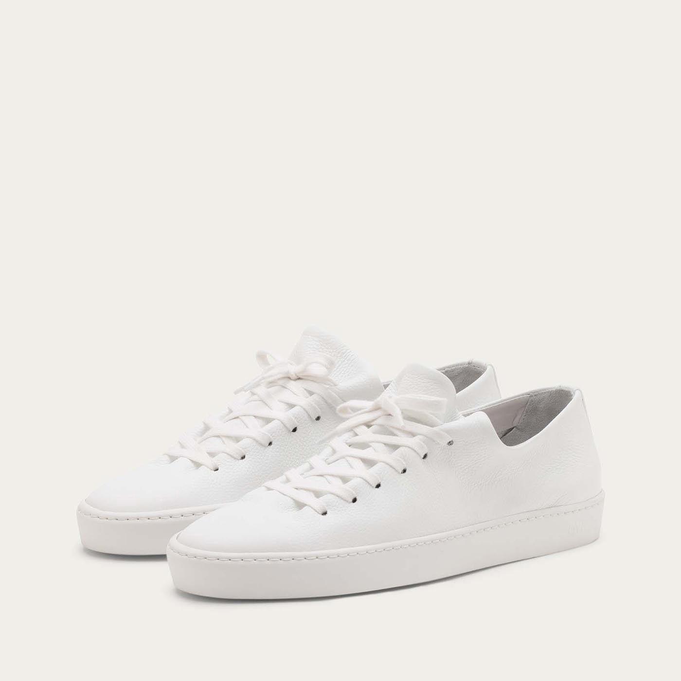 White Atom Sneakers   Bombinate