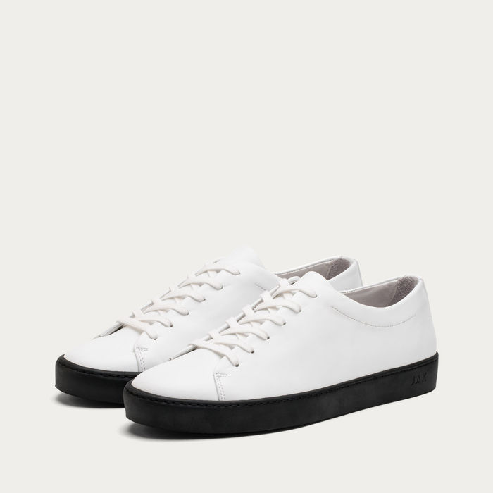 White and Black Royal Sneakers | Bombinate