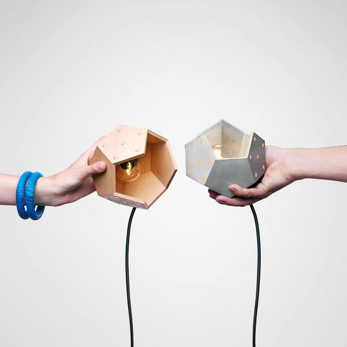 Basic Twelve Duo Concrete and Wood Table Lamp | Bombinate