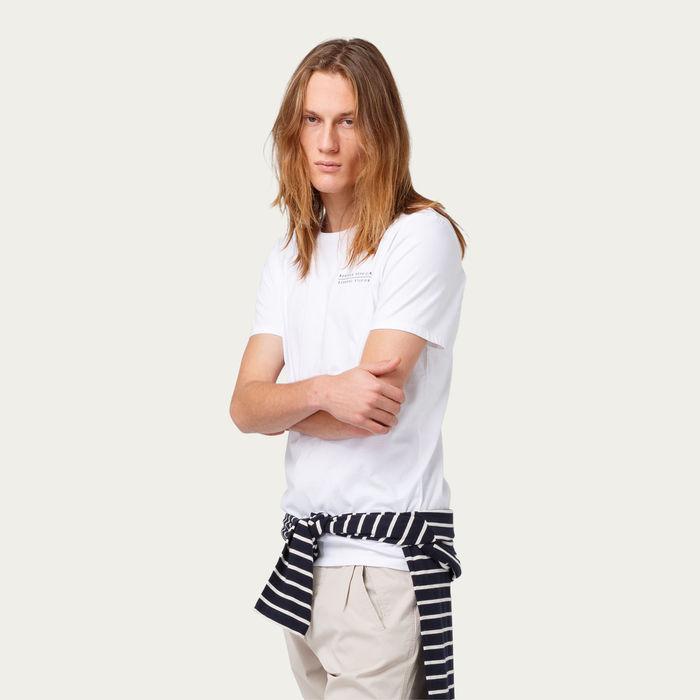Plain White Bonjour Monsieur Tee-shirt | Bombinate