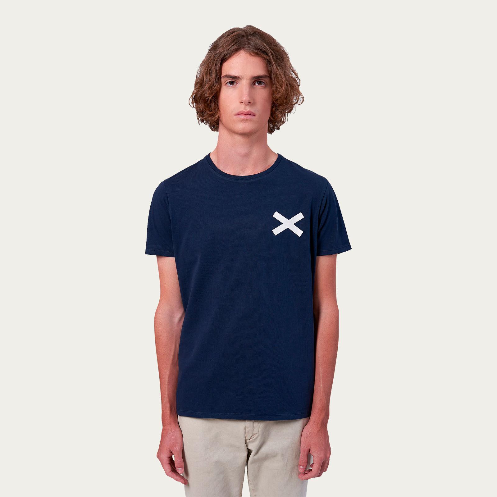Plain Navy Cross Tee-shirt | Bombinate