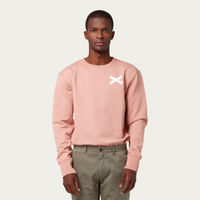 Plain Salmon Cross Sweatshirt | Bombinate