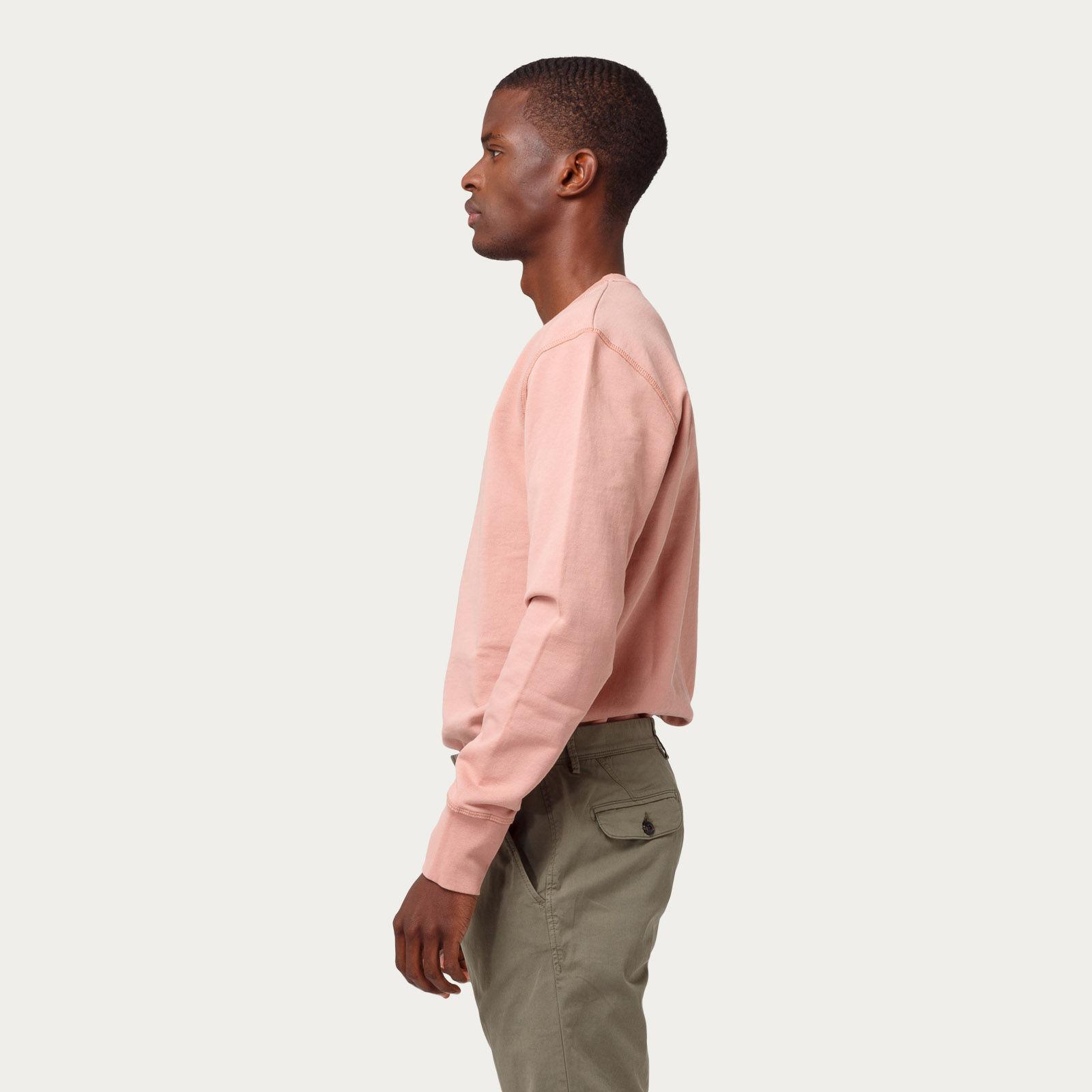 Plain Salmon Cross Sweatshirt | Bombinate