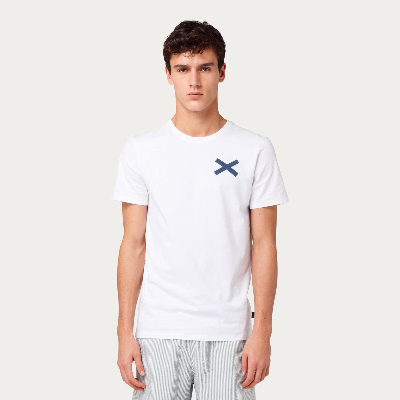 Plain White Cross Tee-shirt | Bombinate