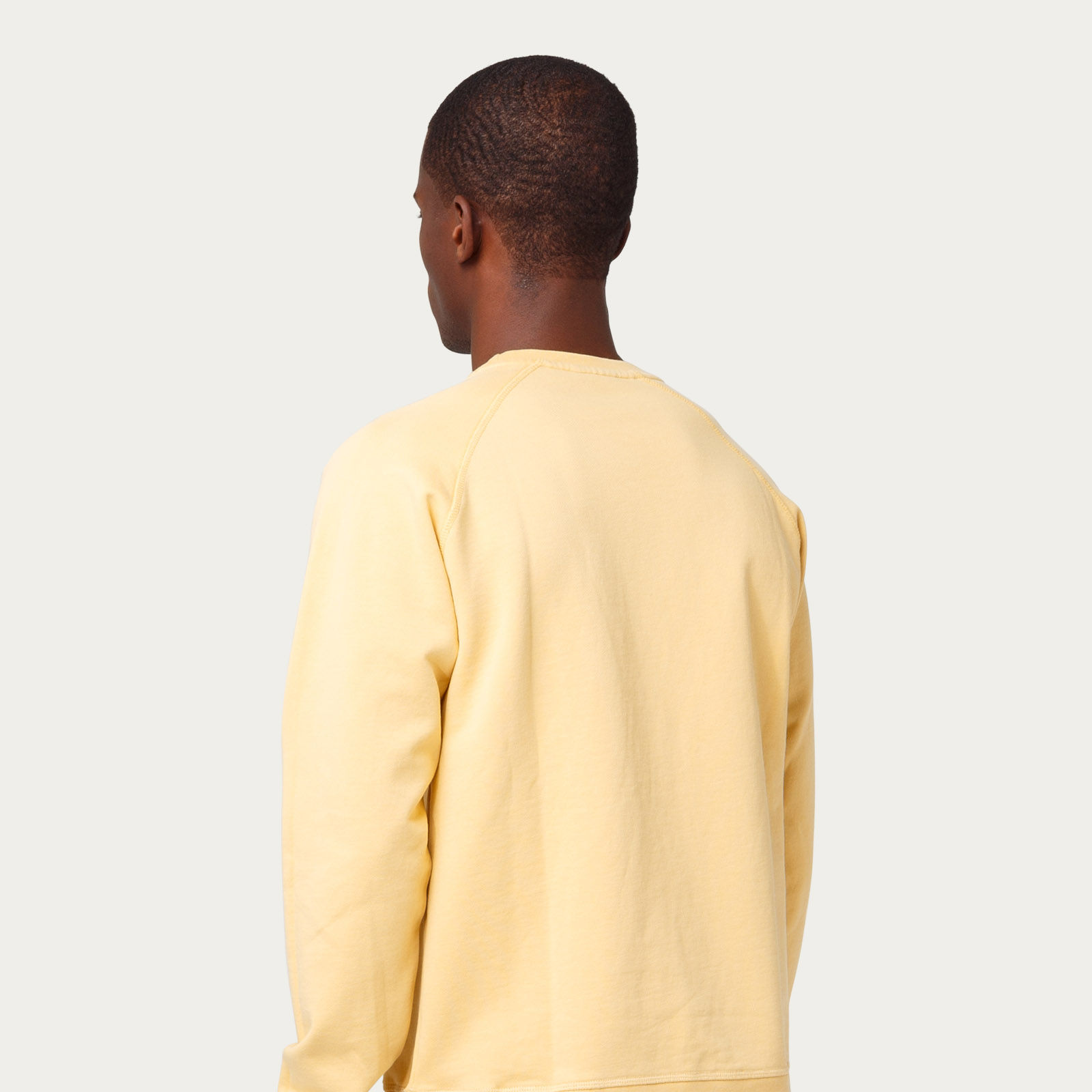 Plain Light Yellow Gentleman Surf Sweatshirt | Bombinate