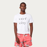 Plain White Surf City Tee-shirt | Bombinate