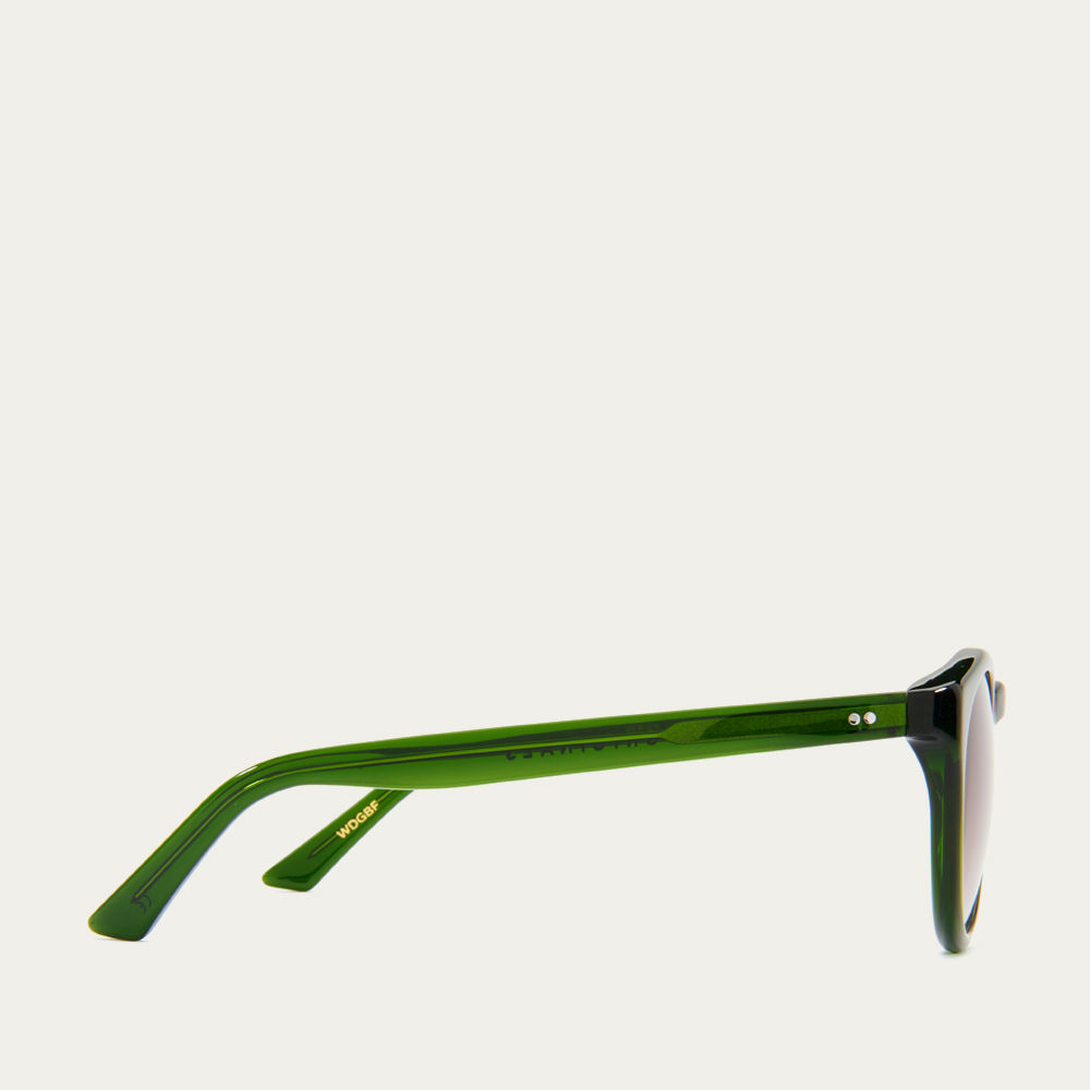 Dartmouth Green and Brown Fade Watts Sunglasses | Bombinate